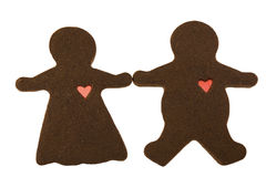 Pares del chocolate en amor Imágenes de archivo libres de regalías