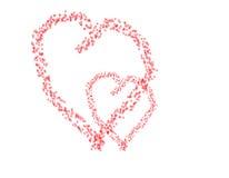 Pares del corazón Fotos de archivo libres de regalías