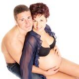 Pares del embarazo Imagenes de archivo