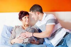 Pares del embarazo Fotos de archivo