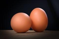 Pares del huevo fresco Fotos de archivo libres de regalías