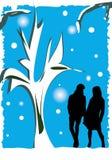 Pares del invierno Imagen de archivo libre de regalías