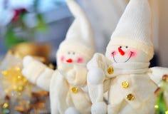 Pares del muñeco de nieve Imagenes de archivo