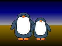 Pares del pingüino ilustración del vector