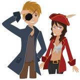 Pares del pirata ilustración del vector