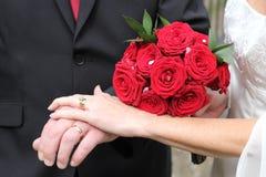 Pares del recién casado Fotos de archivo libres de regalías
