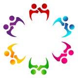 Pares del trabajo en equipo del logotipo de la gente junto imágenes de archivo libres de regalías