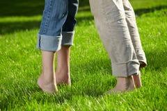 Pares descalços Foto de Stock Royalty Free