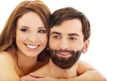 Pares desnudos apasionados hermosos en amor Fotografía de archivo libre de regalías