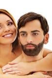 Pares desnudos apasionados hermosos en amor Fotos de archivo