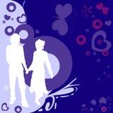 Pares, diseño de la tarjeta del día de San Valentín Imagen de archivo