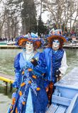 Pares disfarçados - carnaval Venetian 2013 de Annecy Fotografia de Stock