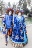 Pares disfarçados - carnaval Venetian 2013 de Annecy Foto de Stock