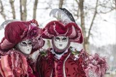 Pares disfarçados - carnaval Venetian 2013 de Annecy Imagens de Stock Royalty Free