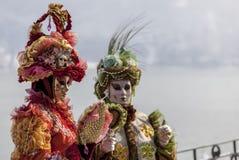 Pares disfarçados - carnaval Venetian 2013 de Annecy Foto de Stock Royalty Free