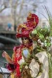 Pares disfarçados - carnaval Venetian 2013 de Annecy Fotos de Stock Royalty Free