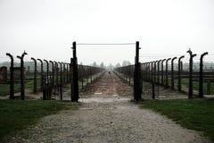 Pares distantes em Auschwitz-Birkenau fotografia de stock
