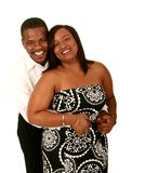 Pares do americano africano que abraçam 3 Fotografia de Stock Royalty Free