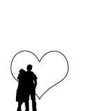 Pares do amor ilustração royalty free