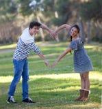 Pares do amor do coração Foto de Stock Royalty Free