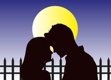 Pares do amor na noite ilustração stock