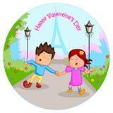 Pares do amor no dia de Valentim ilustração do vetor