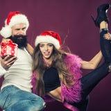 Pares do ano novo feliz Foto de Stock Royalty Free