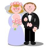 Pares 03 do casamento Fotografia de Stock Royalty Free