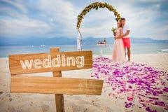 Pares do casamento apenas casados Imagem de Stock Royalty Free