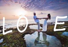 Pares do casamento apenas casados Imagens de Stock