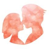 Pares do casamento Noiva e noivo Ilustração lisa do estilo fotografia de stock