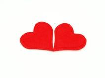 Pares do coração Foto de Stock Royalty Free