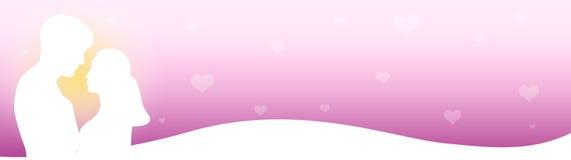 Pares do encabeçamento do Web no amor Imagens de Stock Royalty Free
