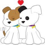 Pares do filhote de cachorro Imagem de Stock Royalty Free