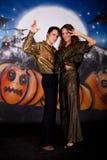 Pares do glitter de Halloween imagens de stock royalty free