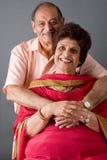 Pares do Indian do leste das pessoas idosas Fotografia de Stock Royalty Free