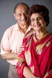Pares do Indian do leste das pessoas idosas imagem de stock royalty free