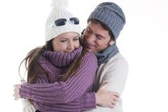Pares do inverno imagens de stock