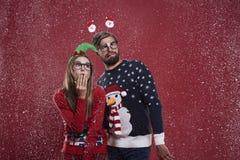 Pares do Natal fotografia de stock