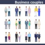 Pares do negócio, ilustração do vetor Imagem de Stock