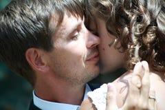 Pares do Newlywed no amor Imagem de Stock