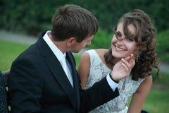 Pares do Newlywed no amor Imagens de Stock Royalty Free