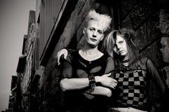 Pares do punk fotografia de stock royalty free