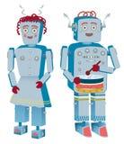 Pares do robô Foto de Stock Royalty Free