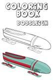 Pares do trenó do livro para colorir Estilo dos desenhos animados Clipart para crianças Imagens de Stock Royalty Free