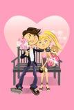 Pares do Valentim Foto de Stock Royalty Free