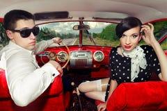 Pares do vintage. Fotos de Stock Royalty Free