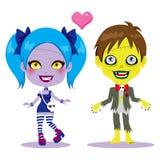 Pares do zombi no amor ilustração stock