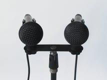 Pares dos microfones POV Fotografia de Stock Royalty Free