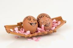 Pares dos ovos das artes e da cara Fotografia de Stock Royalty Free